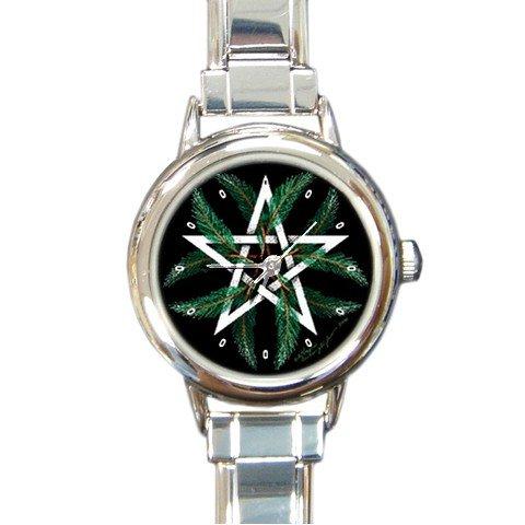 Winter Pentacle Round Italian Charm Wrist Watch 173