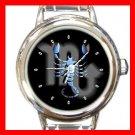 Zodiac Scorpio Round Italian Charm Wrist Watch 176