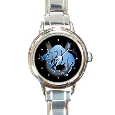 Zodiac Taurus Round Italian Charm Wrist Watch 177