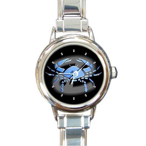 Zodiac Cancer Round Italian Charm Wrist Watch 187