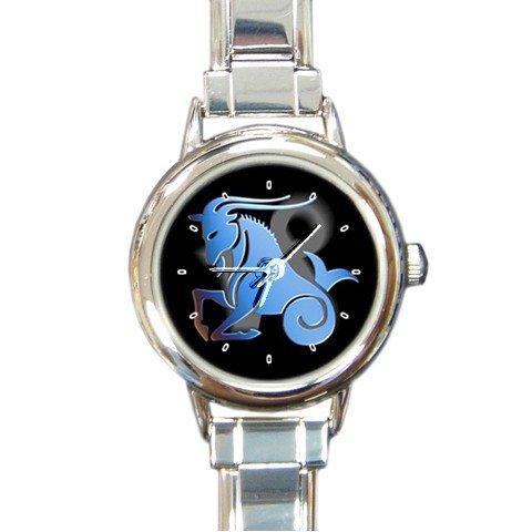 Zodiac Capricorn Round Italian Charm Wrist Watch 188