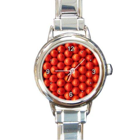 Tomato Wall Round Italian Charm Wrist Watch 190