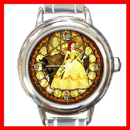 BEAUTY & THE BEAST Round Italian Charm Wrist Watch 192