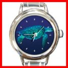 Sea Turtle Round Italian Charm Wrist Watch 194