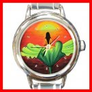 Sunset Existence Round Italian Charm Wrist Watch 196
