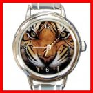 Tiger Growl Round Italian Charm Wrist Watch 197