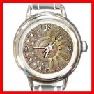 CELESTIAL SUN & MOON Round Italian Charm Wrist Watch 200