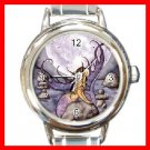 CELESTIAL Mermaid Moon Round Italian Charm Wrist Watch 201