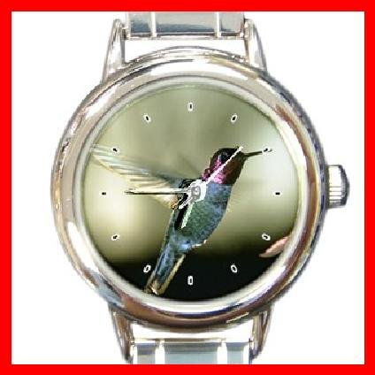 Humming Bird Animal Round Italian Charm Wrist Watch 203