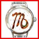 Zodiac Virgo Round Italian Charm Wrist Watch 205