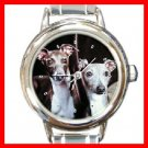 ITALIAN GREYHOUND Round Italian Charm Wrist Watch 208