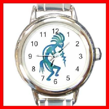 Kokopelli Kokopele Love Round Italian Charm Wrist Watch 213