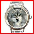 Grey Wolf Animal Round Italian Charm Wrist Watch 215