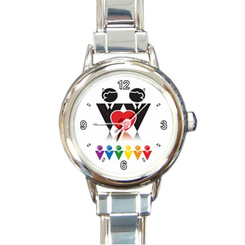 GAY PRIDE Sign SYMBOL Round Italian Charm Wrist Watch 222