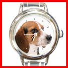 Beagle Dog Pet Animal Round Italian Charm Wrist Watch 231