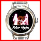 Poker Nights Round Italian Charm Wrist Watch 238