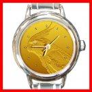 Cockatiel Diamond Eye Round Italian Charm Wrist Watch 241