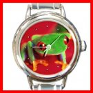 Red Eye Tree Frog Round Italian Charm Wrist Watch 243