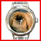 PEKINGESE Dog Pet Aniaml Round Italian Charm Wrist Watch 244