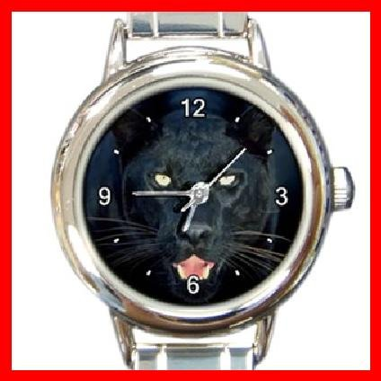 Black Panther Aniaml Round Italian Charm Wrist Watch 245
