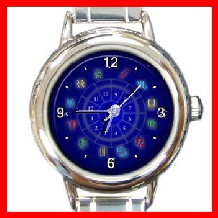 Zodiac Sign Round Italian Charm Wrist Watch 246