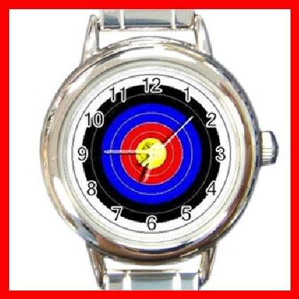 Archery Target Shoot Round Italian Charm Wrist Watch 249