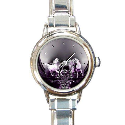 UNICORN Wings Myth Round Italian Charm Wrist Watch 252
