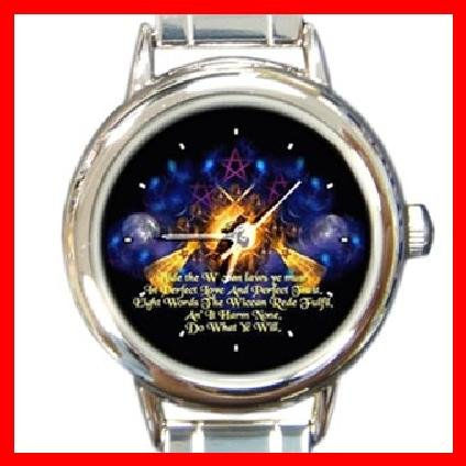 The Wiccan Rede Round Italian Charm Wrist Watch 254