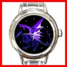 Blue Dragon Myth Round Italian Charm Wrist Watch 258