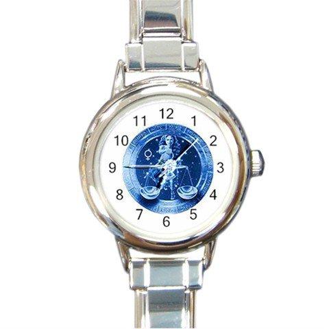 Libra Zodiac Round Italian Charm Wrist Watch 262