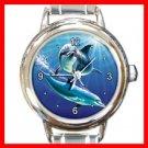 Dolphins Sea Round Italian Charm Wrist Watch 264