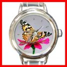 Butterfly Fly Insect Round Italian Charm Wrist Watch 272