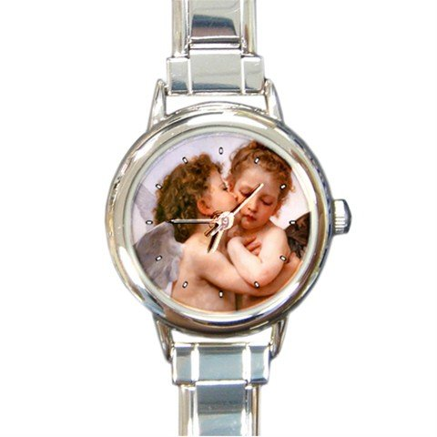 Angel Kiss Round Italian Charm Wrist Watch 282