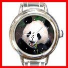 Panda Smile Animal Round Italian Charm Wrist Watch 284