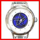 WICCA PENTACLE Round Italian Charm Wrist Watch 286