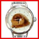 Cute POMERANIAN DOG Pet Round Italian Charm Wrist Watch 287