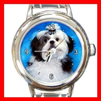 Shih Tzu DOG Pet Animal Round Italian Charm Wrist Watch 291