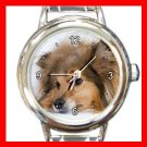 Shetland Sheepdog DOG Pet Animal Round Italian Charm Wrist Watch 295