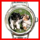 Shetland Sheepdog Friendship DOG Pet Animal Round Italian Charm Wrist Watch 297
