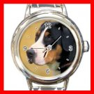 Sennen Hound DOG Pet Animal Round Italian Charm Wrist Watch 299