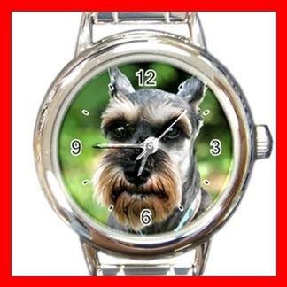 Schnauzer DOG Pet Animal Round Italian Charm Wrist Watch 300
