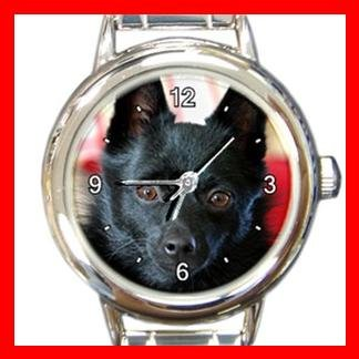 Schipperke DOG Pet Animal Round Italian Charm Wrist Watch 301