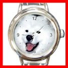 Samoyed DOG Pet Animal Round Italian Charm Wrist Watch 304