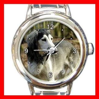 Saluki DOG Pet Animal Round Italian Charm Wrist Watch 305