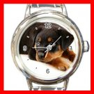 Rottweiler Puppy DOG Pet Animal Round Italian Charm Wrist Watch 306