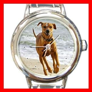 Rhodesian Ridgeback DOG Pet Animal Round Italian Charm Wrist Watch 308