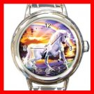 RAINBOW UNICORN Myth Round Italian Charm Wrist Watch 309