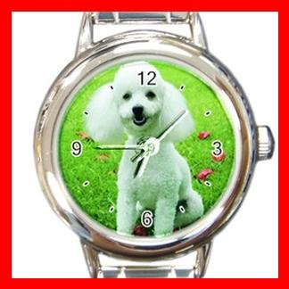 Poodle DOG Pet Animal Round Italian Charm Wrist Watch 311