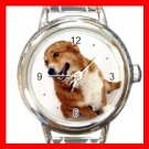 Pembroke DOG Pet Animal Round Italian Charm Wrist Watch 316