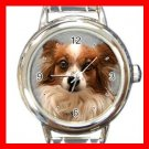 Papillon DOG Pet Animal Round Italian Charm Wrist Watch 318